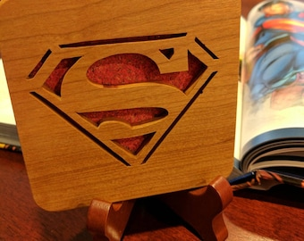 Superman Hand Cut Wooden Deskorations