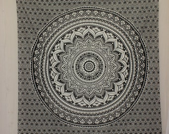 Black Wall Tapestry Large Tapestry Mandala Tapestry Wall Hangings Cotton Tapestry Hippie Tapestry Fabric Bohemian Tapestry Indian Tapestry
