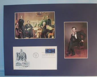 Abraham Lincoln and the Emancipation Proclamation & First Day Cover of its own stamp