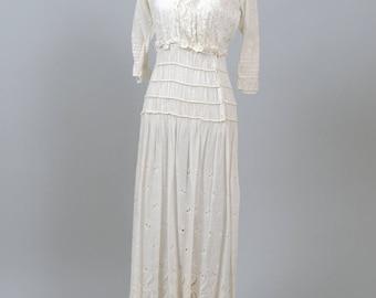 Edwardian Peasant Vintage Wedding Dress