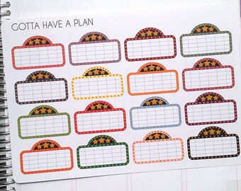 Planner Stickers Movie Marquee for Erin Condren, Happy Planner, Filofax, Scrapbooking