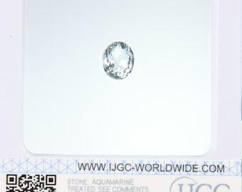 Aquamarine - Certified Oval Faceted 3.59ct Light blue Transparent Aquamarine 11x9mm Loose Gemstone