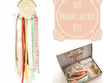 DIY Doily DIY Dream Catcher Craft Kit.  Creative Birthday Gift for Girls.