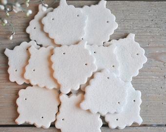 Unfinished DIY Salt Dough Grapes Ornaments Set of 10