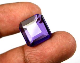 11.20 Ct. Octagon Cut Brazilian Voilet Amethyst Loose Gemstone-Christmas Gift