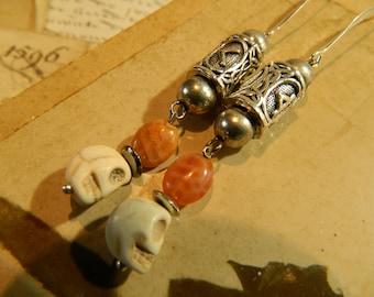 The Peru cracked carnelian earrings.