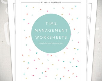 Time Management Worksheets - 5 Printable Planners for Daily, Weekly & Monthly Scheduling