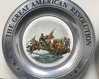 The great American Revolution Commemorative Wall Plates