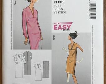 UNCUT Misses' Dress Sewing Pattern Burda 7111 Size 10-12-14-16-18-20-22-24 - 1960s Style, Mod, Retro, Shift Dress, Long Sleeve, Fall Dress