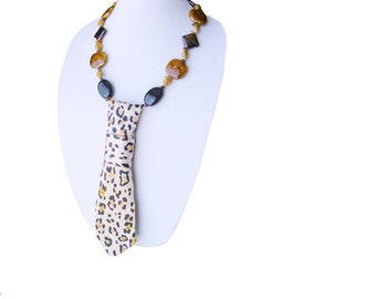 VELOCITY necktie necklace cheetah women's neckties animal print wildlife modern necktie ladies necktie