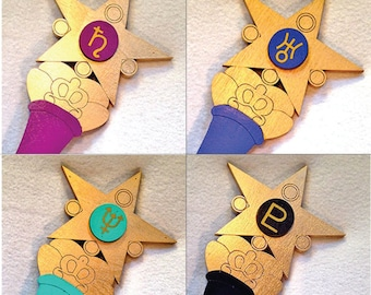 Full set of 8 Kids Costume Size Sailor Scout Outer and Inner Planet Wand Cosplay Replica Halloween