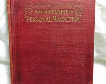 Instantaneous Personal Magnetism, Vintage books, Psychology, Metaphysics, Rare books