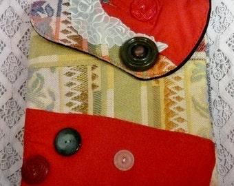 Artsy Boho Cross Body Handbag,Summertime Class, Southwestern Clutch,Mature Audiences Only,Recyled ArtWare, Art Wear,One of A Kind,Unique Art