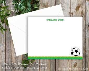 Soccer Thank You Cards Instant Download • Stationery • Note Cards • Baby Shower • Birthday • Baptism • Printable Cards • Cards Set