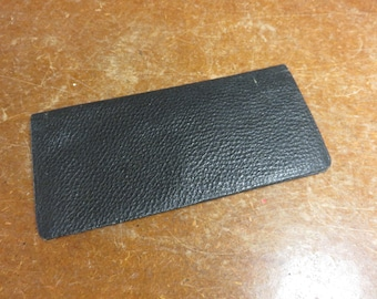 Antique Vintage Black Leather Billfold Wallet