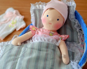 Waldorf doll Lena Milena and her cozy bed!