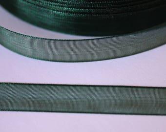 nice dark green organza Ribbon