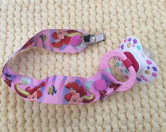 Little mermaid soother clip