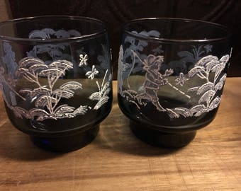 SALE!!! Libby Mary Gregory lot 2 Glasses