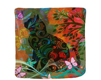 Funky Abstract Cat  Blanket  4 Sizes