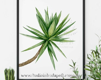 Tropical green wall art, Green leaf poster, Palm tree wall, Palm tree wall decor, Tropical palm leaf, Palm tree printable