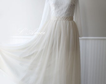 Rustic Vintage Lace Wedding Gown Country Rustic Wedding