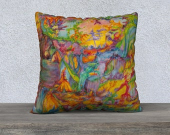 Portals of the Cosmic Realms square pillow case