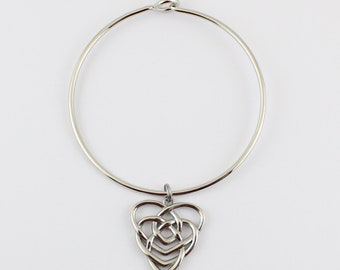 Celtic Motherhood Knot Bangle Bracelet