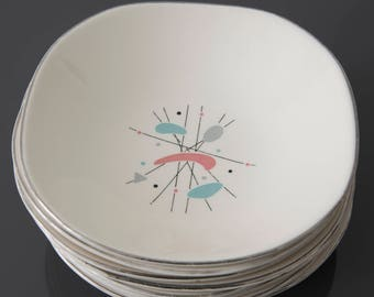 Knowles Mobile Pattern Dessert/Fruit Bowls - K5069