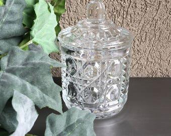 Windsor Clear Sugar Bowl by Federal Glass Vintage - #A2834