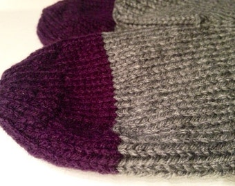 Custom tipped knit mittens - toddler to adult sizes