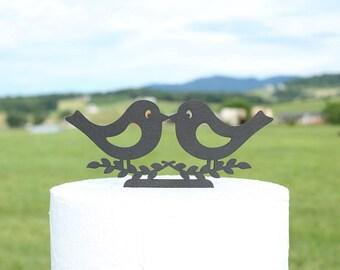 Kissing Lovebirds Cake Topper Wedding Cake Topper