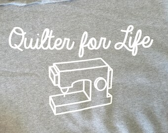 Quilter for Life Sweatshirt with Hood Large