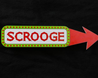 Scrooge Christmas Photo Booth Prop - PVC Durable