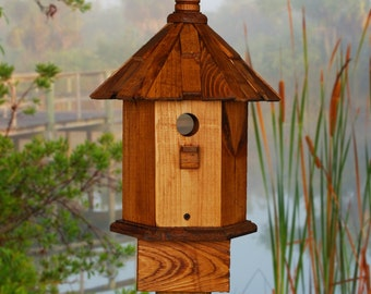 Bluebird House  Stain and Shake Mountain Living Decor, Featured in Our State Magazine April 2018