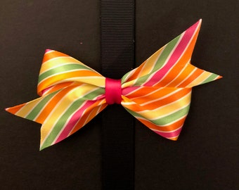 Classic Summer Striped Bow