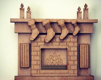 Christmas kit fireplace for frames