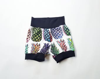 Toddler Shorts Girl - Organic Baby Shorts - Pineapple Shorts - Baby Boy Shorts - Toddler Shorts - Baby Shorts - Hipster Baby Clothes