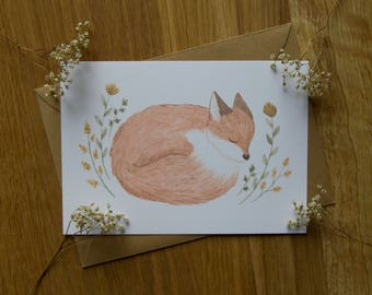 Sleeping Fox - Card