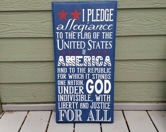 Pledge of Allegiance Sign