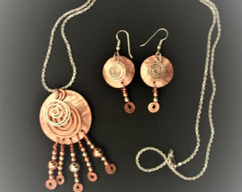 aztec necklace and earrings to match