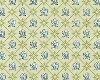 Robert Kaufman Fabric, The Hanah Collepction, Spring, AKC- 7942-192, Green, Floral, Traditional
