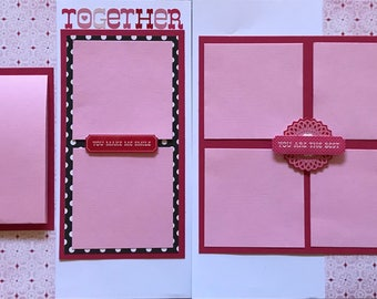 Together pre made double page scrapbook layout