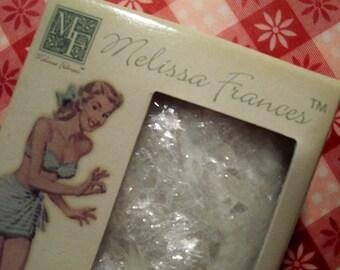 Melissa Frances White Mica Flakes