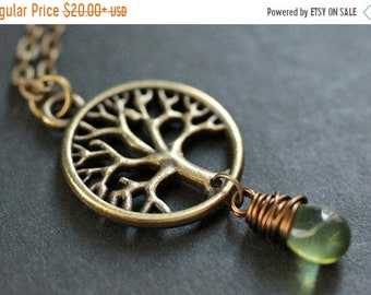 MOTHERS DAY SALE Tree of Life Necklace. Bronze Tree Necklace. Tree of Life Teardrop Necklace. (Choose Your Color) Handmade Jewelry.
