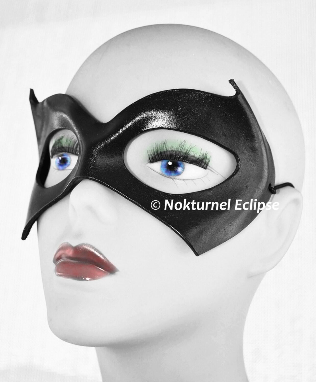 Batgirl Leather Mask Cosplay Halloween Superhero DragonCon