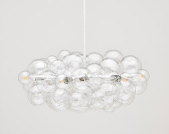 "The Round Branch Bubble Chandelier (32"" diameter) • LED lighting • Bubble Light • Modern Lighting • Custom Size and Finish Options Available"