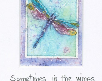 Dragonfly Art, Watercolor Paintings, Watercolor Painting, Dragonfly Painting, Dragonfly Prints, Watercolor Prints,Small Artr