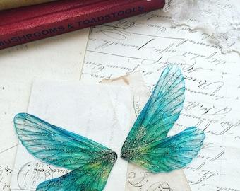 NEW Pretty aqua blue Rainbow faerie wings