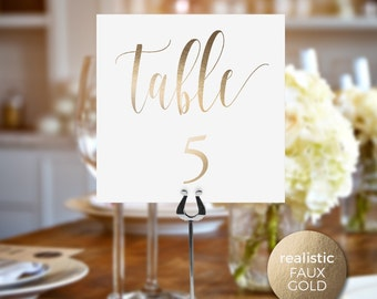 Foil Wedding Table Numbers, Table Cards, Wedding Table Numbers, Wedding Table Numbers Printable, Foil Wedding Table Numbers Printable